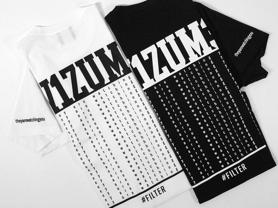 Vizume Matrix Tee Black and White Back