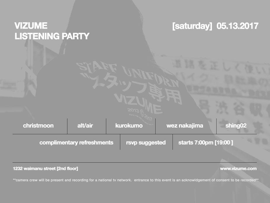Vizume Listening Party 05.13.2017