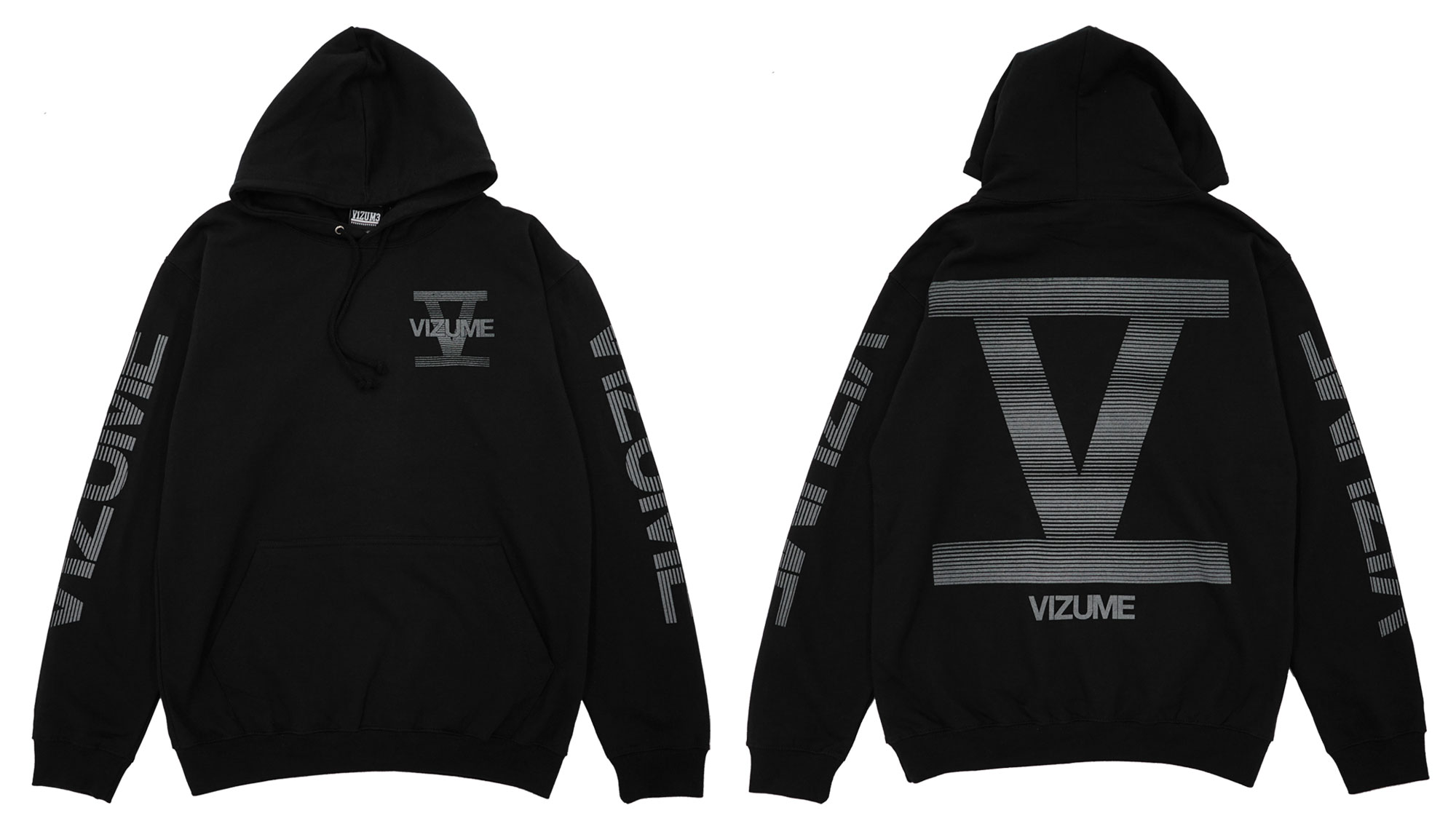 Vizume 5 Year Hooded Pullover with 3M Print