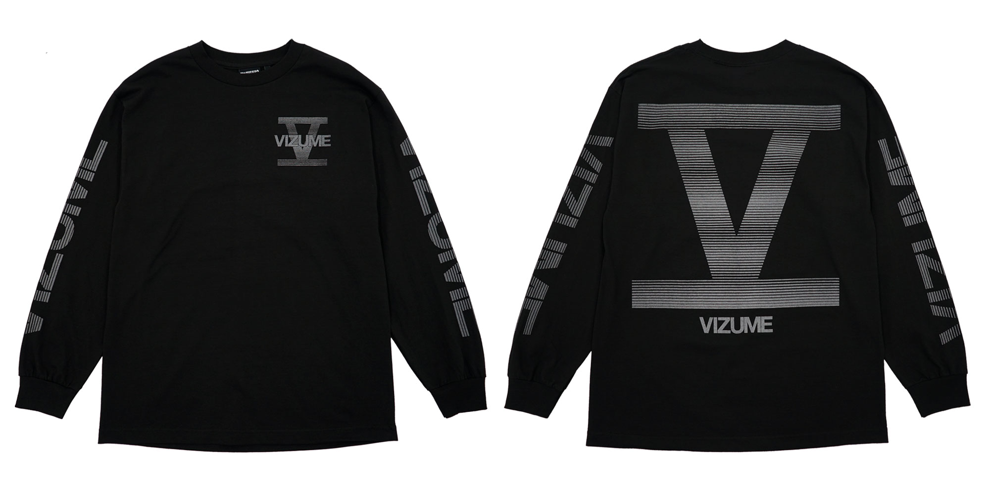 Vizume 5 Year Long Sleeve Tee with 3M Print in Black