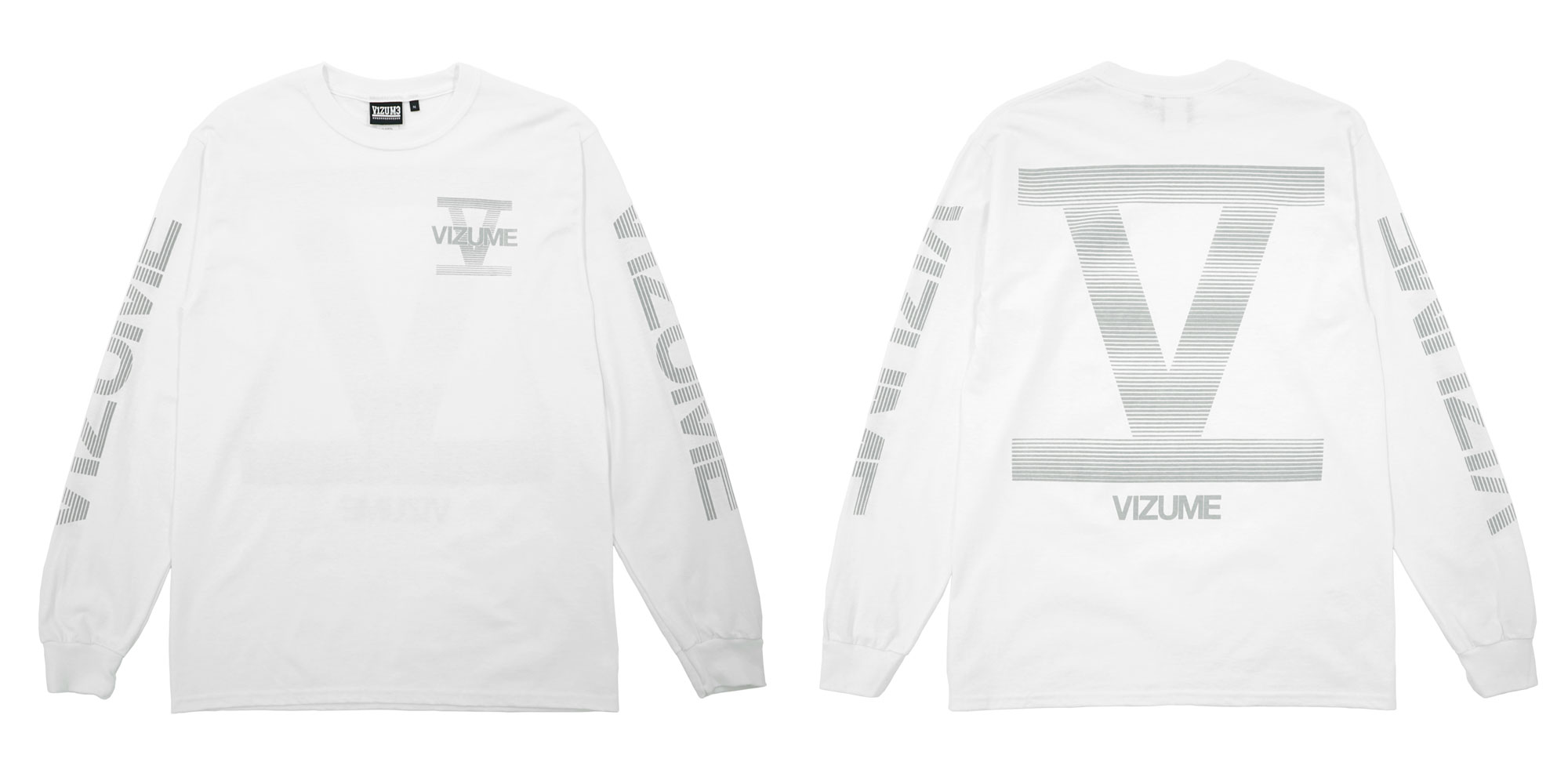Vizume 5 Year Long Sleeve Tee with 3M Print in White