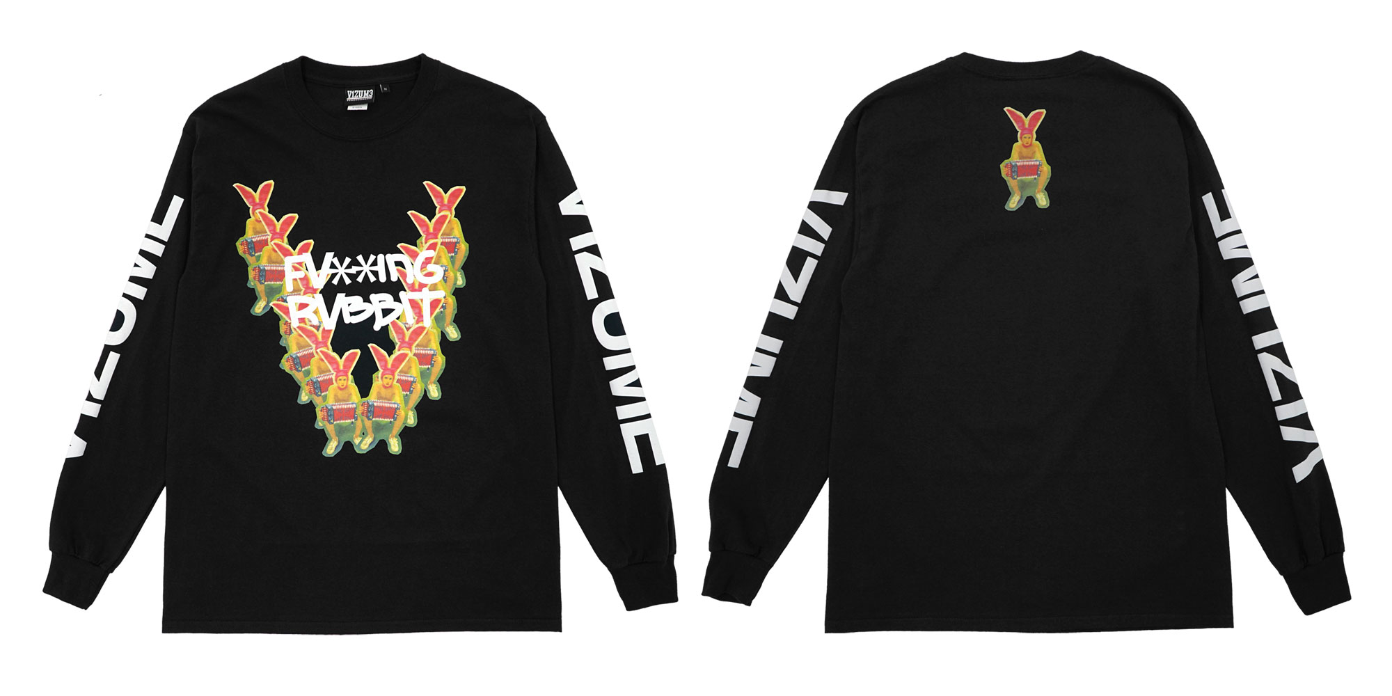 Vizume Gummo Long Sleeve Tee in Black