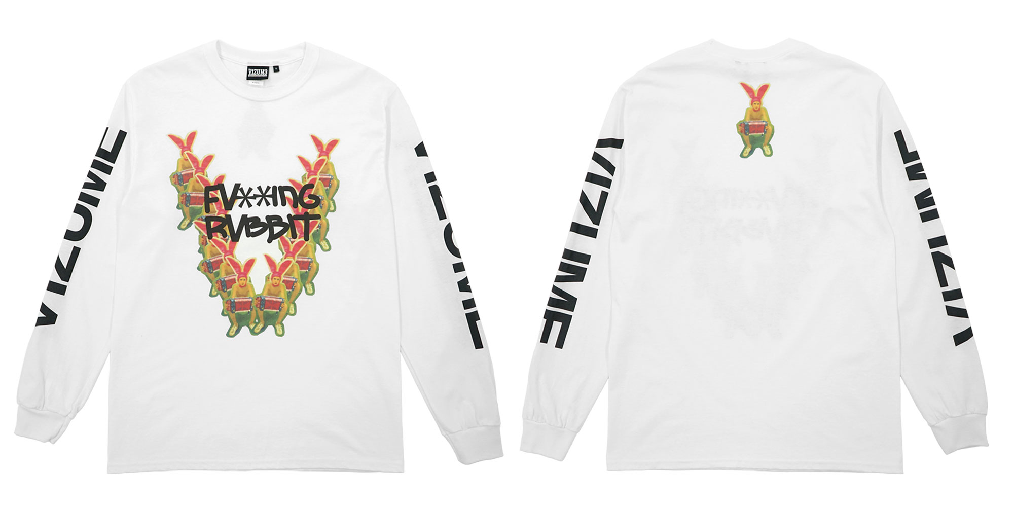 Vizume Gummo Long Sleeve Tee in White