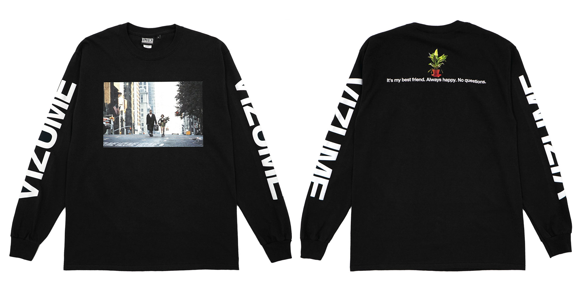 Vizume Professional Long Sleeve Tee in Black