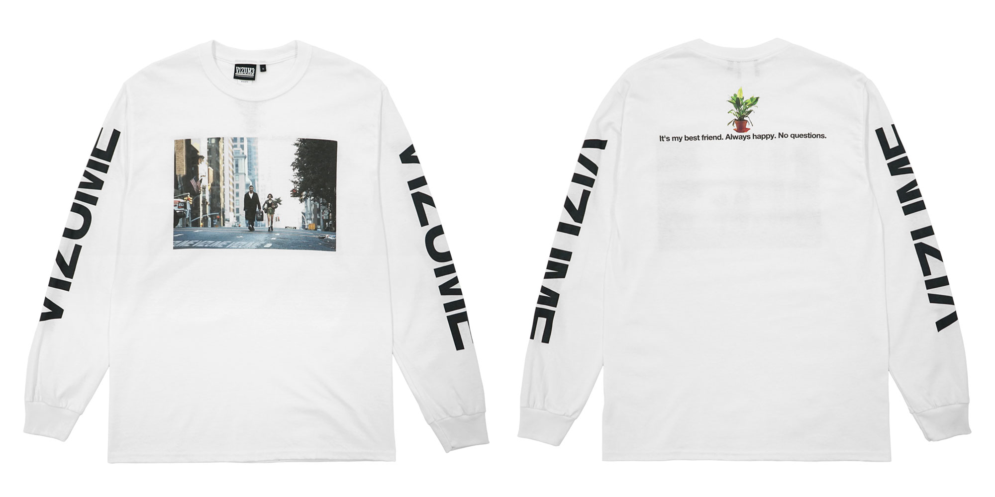 Vizume Professional Long Sleeve Tee in White